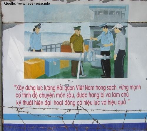 An der Grenze des vietnamesischen Grenzübergangs