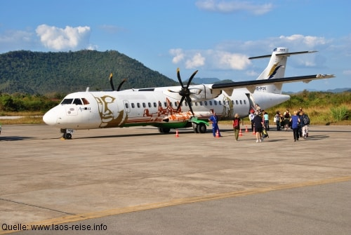 Zurzeit gibt es noch keine interkontinentalen Flüge nach Laos