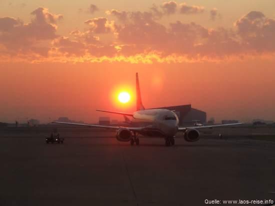 Auf dem Luftweg nach Laos