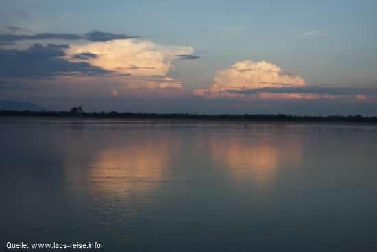 Champasak: Blick auf den Mekong