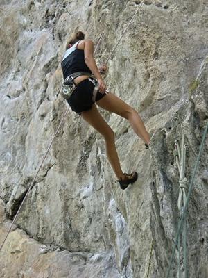 Klettermöglichkeiten in Laos gibt es viele