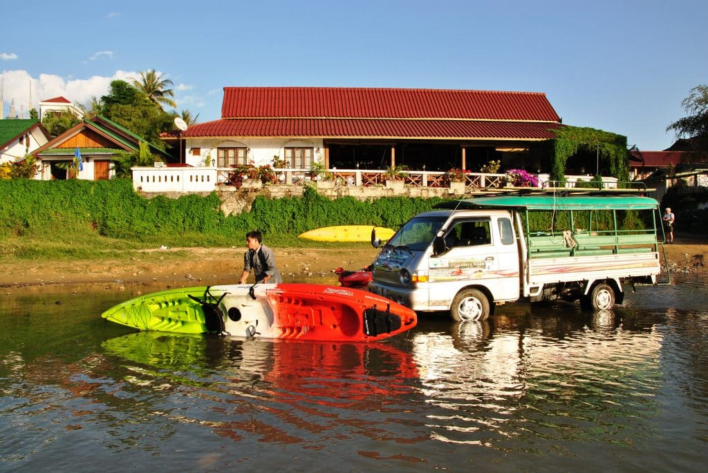 Vang Vieng - Kajaktour auf dem Mekong