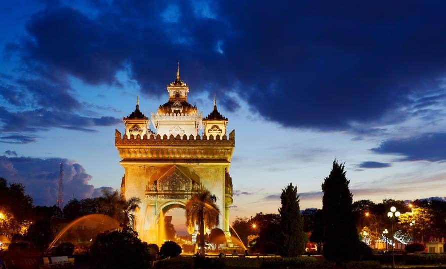 Pattuxai in Vientiane